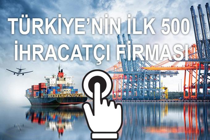 Türkiye'nin ilk 500 ihracatçı firması
